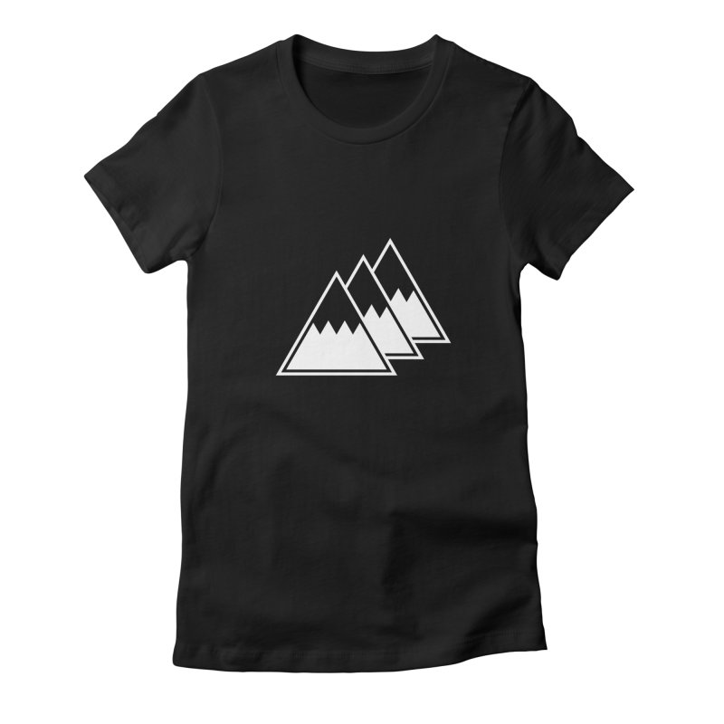 Alps Women's Fitted T-Shirt by WhileYouWereAway