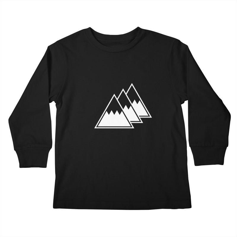 Alps Kids Longsleeve T-Shirt by WhileYouWereAway