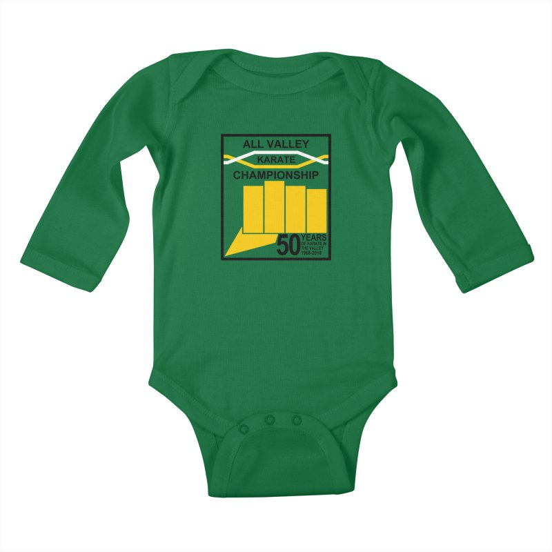 All Valley Championship Kids Baby Longsleeve Bodysuit by WhileYouWereAway