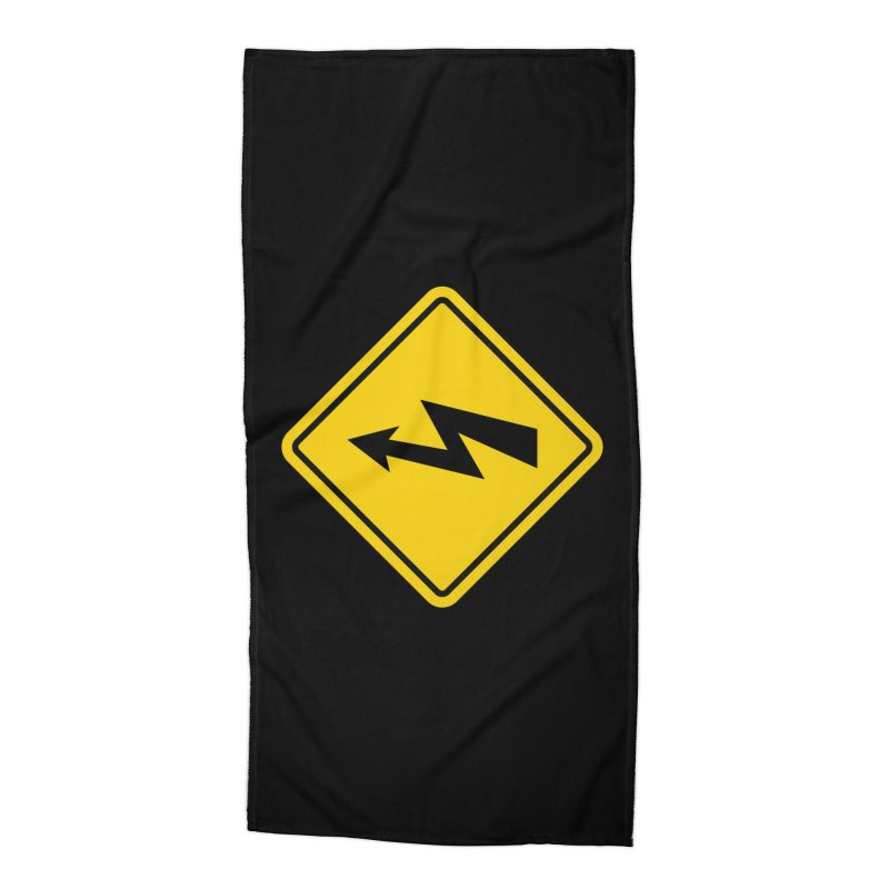 HIGH VOLTAGE sign Accessories Beach Towel by Wylie Craft Co.