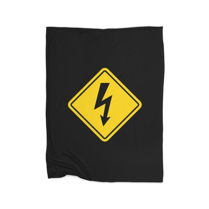 HIGH VOLTAGE sign Home Blanket by Wylie Craft Co.