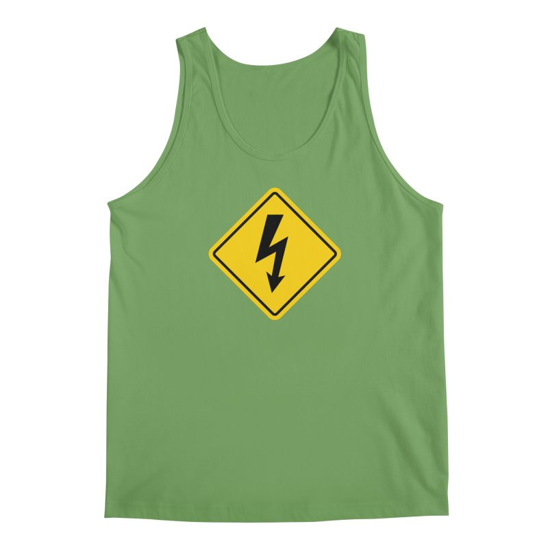 HIGH VOLTAGE sign Men's Tank by Wylie Craft Co.