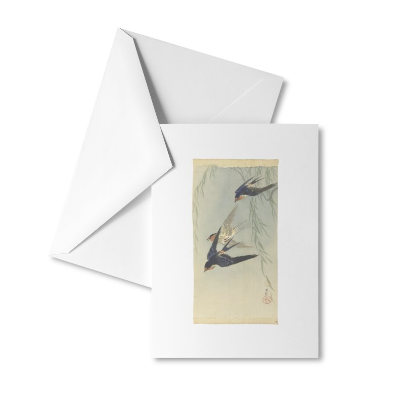 Three Birds in Flight Accessories Greeting Card by Wylie Craft Co.