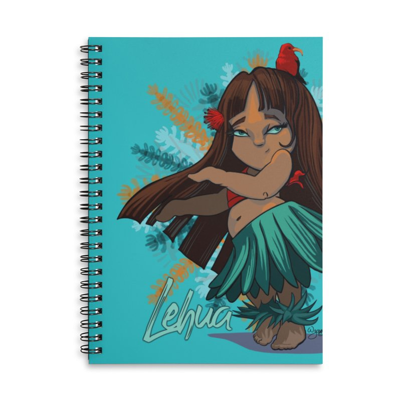 Hula Girl Lehua in Lined Spiral Notebook by Michelle Wynn's Artist Shop
