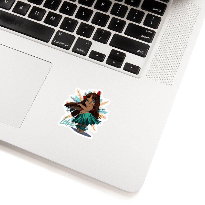 Hula Girl Lehua Accessories Sticker by Michelle Wynn's Artist Shop