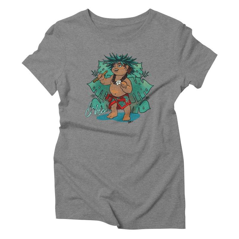 O'hia Women's Triblend T-Shirt by Michelle Wynn's Artist Shop