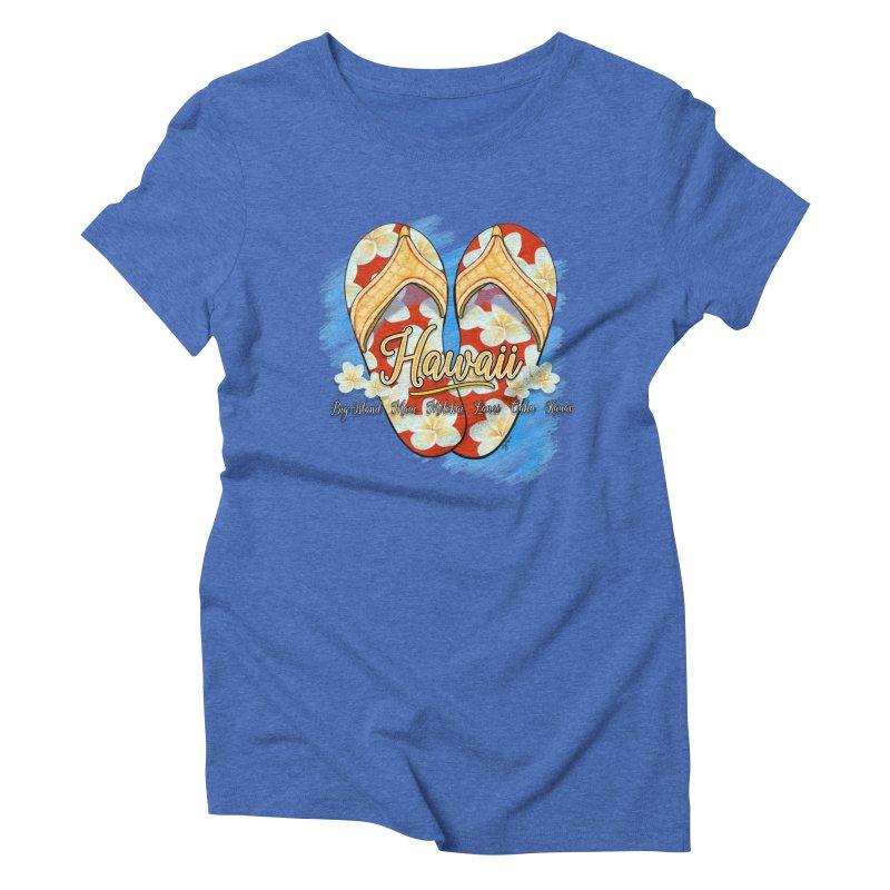 Hawaiian Style Slippers Women's Triblend T-Shirt by Michelle Wynn's Artist Shop