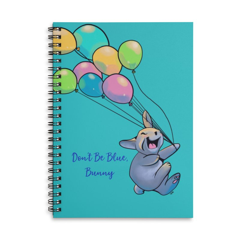 Happy Balloons Accessories Lined Spiral Notebook by Michelle Wynn's Artist Shop