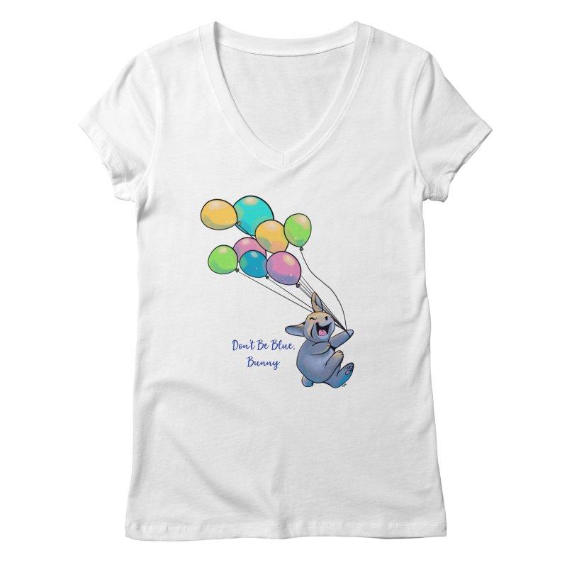 Happy Balloons Women's Regular V-Neck by Michelle Wynn's Artist Shop