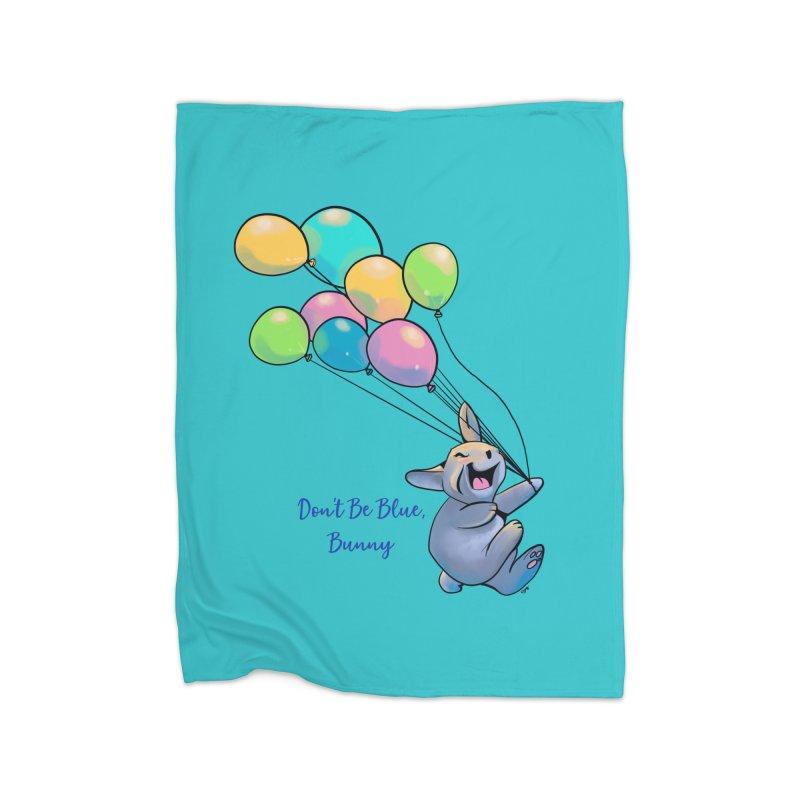 Happy Balloons Home Fleece Blanket Blanket by Michelle Wynn's Artist Shop