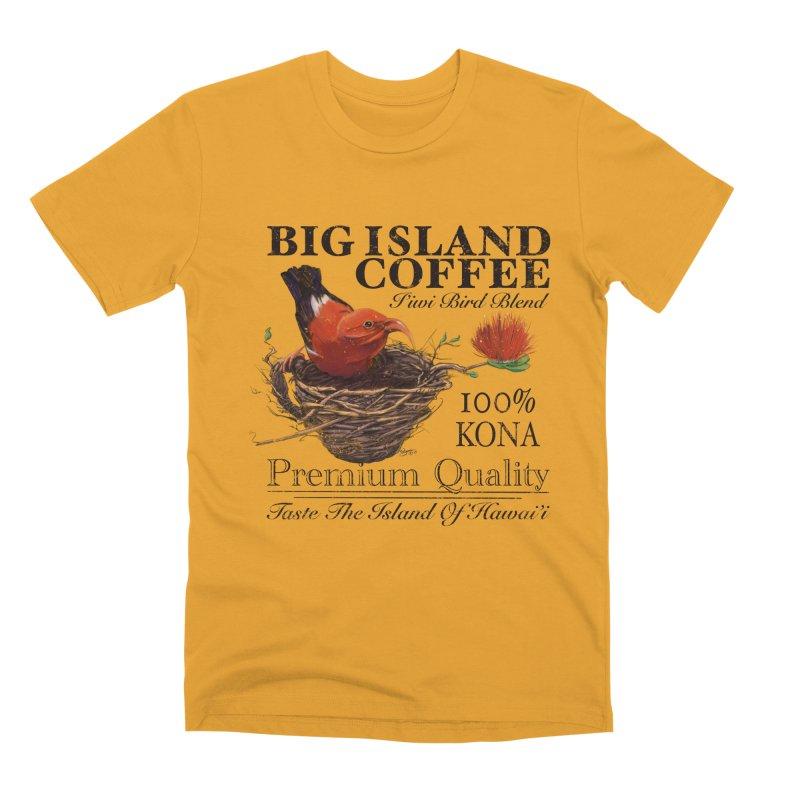 Big Island Coffee Men's Premium T-Shirt by Michelle Wynn's Artist Shop