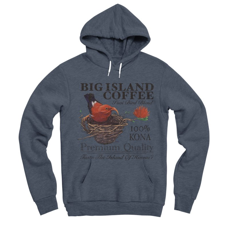 Big Island Coffee Men's Sponge Fleece Pullover Hoody by Michelle Wynn's Artist Shop