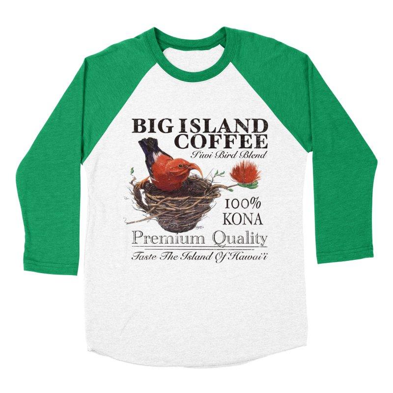 Big Island Coffee Women's Baseball Triblend Longsleeve T-Shirt by Michelle Wynn's Artist Shop