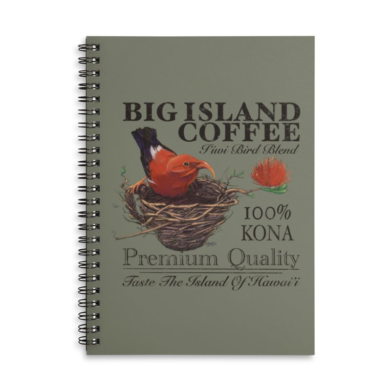 Big Island Coffee Accessories Lined Spiral Notebook by Michelle Wynn's Artist Shop