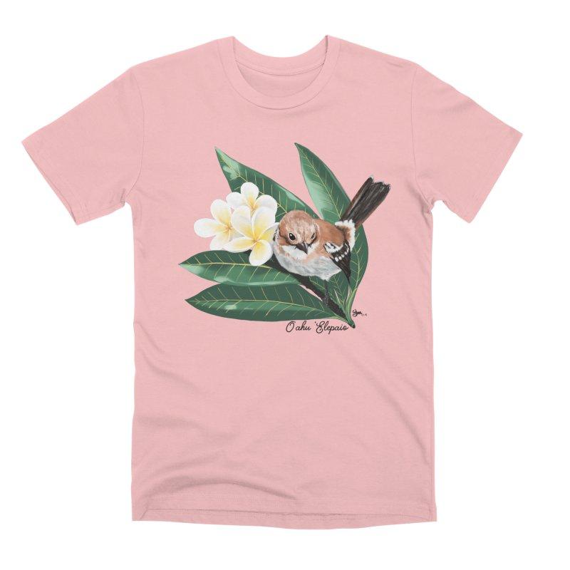 Oahu Elepaio Men's Premium T-Shirt by Michelle Wynn's Artist Shop