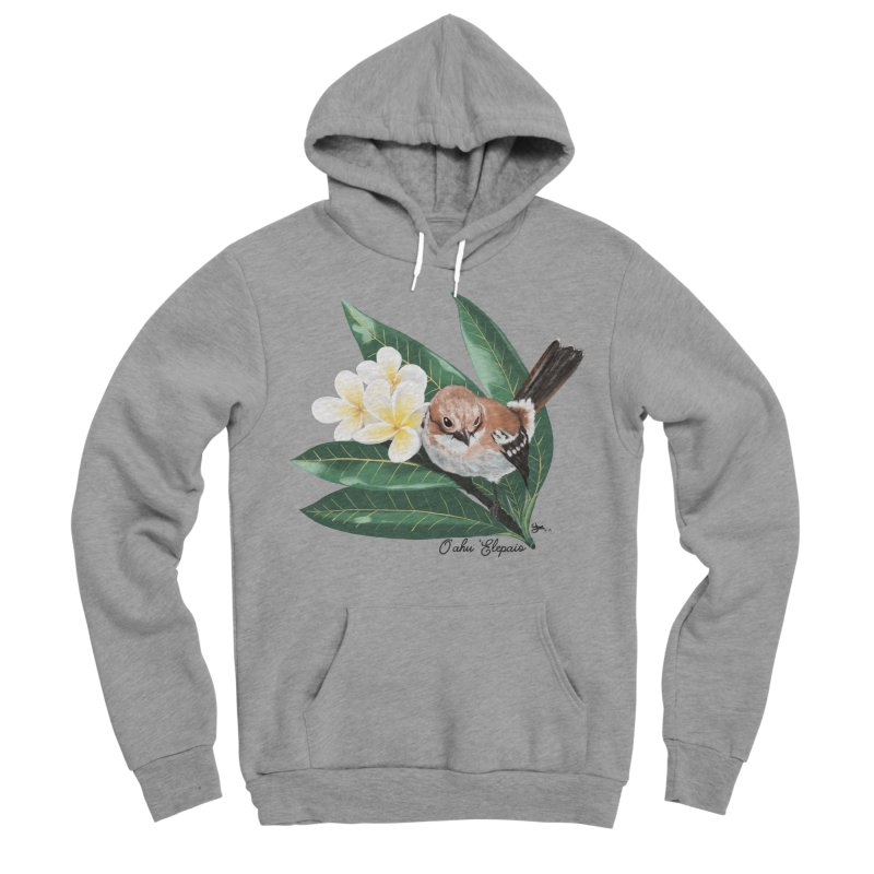 Oahu Elepaio Men's Sponge Fleece Pullover Hoody by Michelle Wynn's Artist Shop