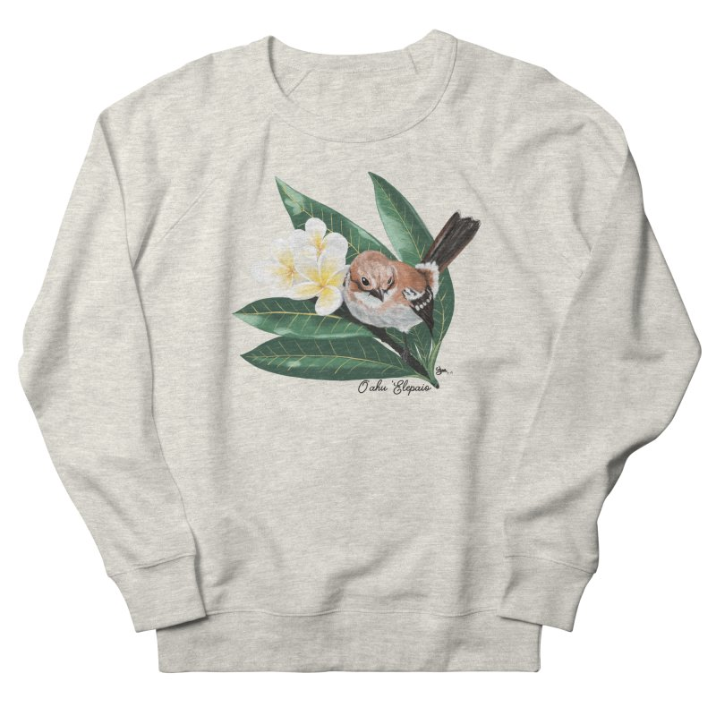 Oahu Elepaio Women's French Terry Sweatshirt by Michelle Wynn's Artist Shop