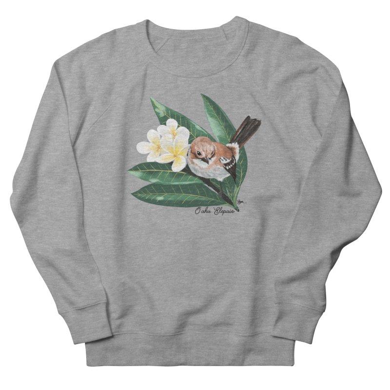 Oahu Elepaio Men's French Terry Sweatshirt by Michelle Wynn's Artist Shop