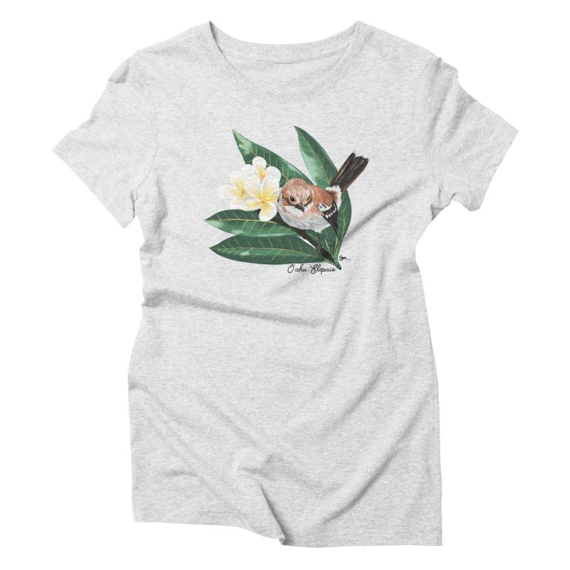 Oahu Elepaio Women's Triblend T-Shirt by Michelle Wynn's Artist Shop