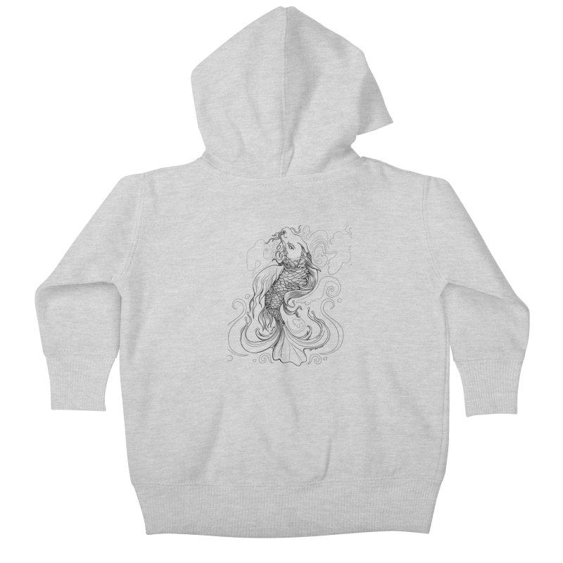 Dragonfish Kids Baby Zip-Up Hoody by Michelle Wynn's Artist Shop