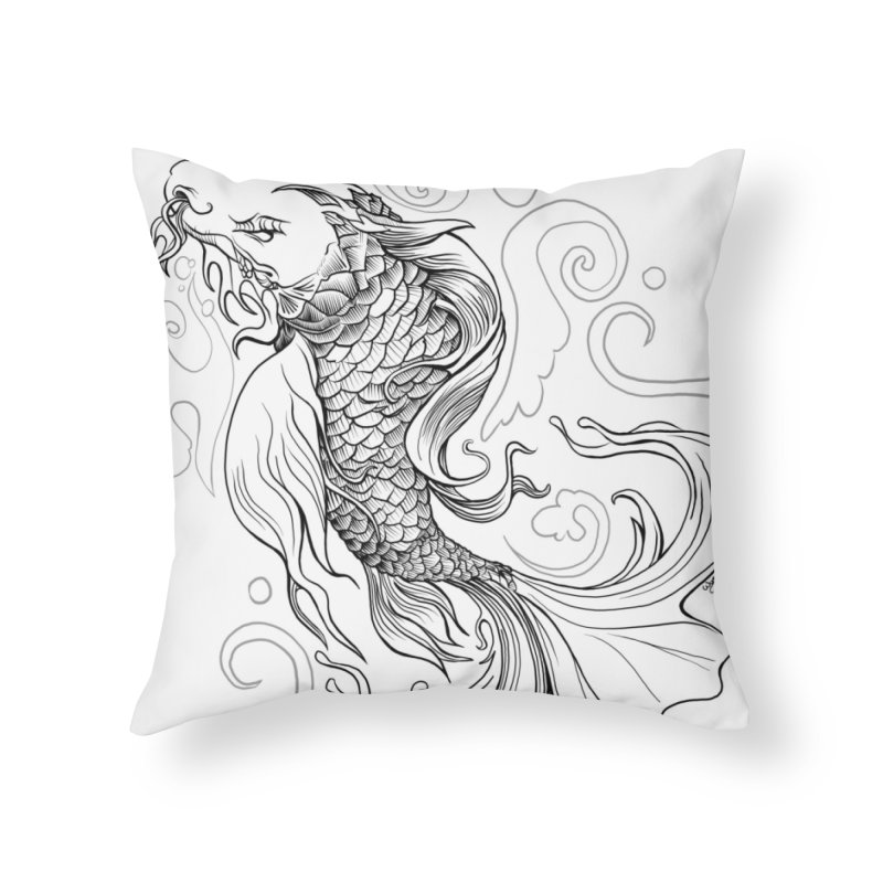 Dragonfish in Throw Pillow by Michelle Wynn's Artist Shop