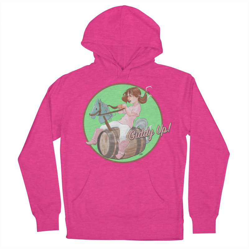 Barrel Racing Women's French Terry Pullover Hoody by Michelle Wynn's Artist Shop
