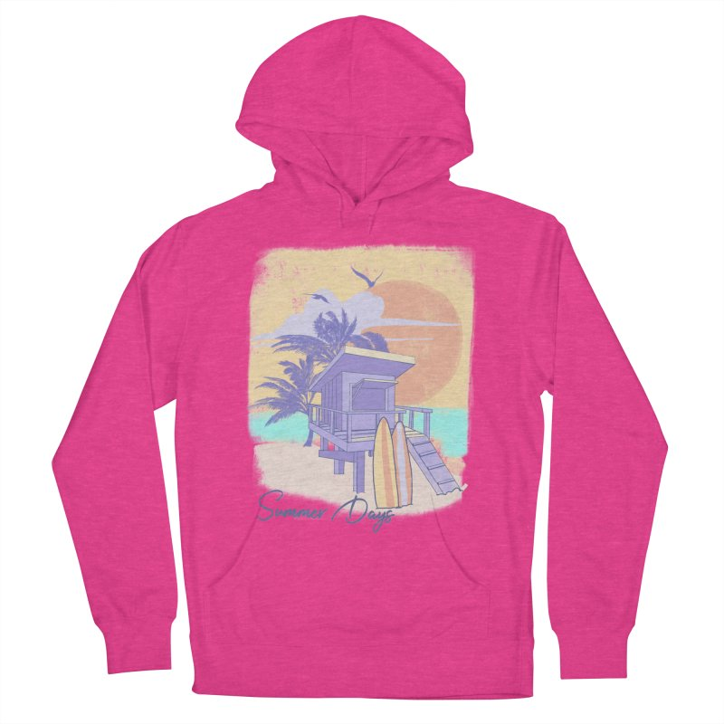 Summer Days Women's French Terry Pullover Hoody by Michelle Wynn's Artist Shop