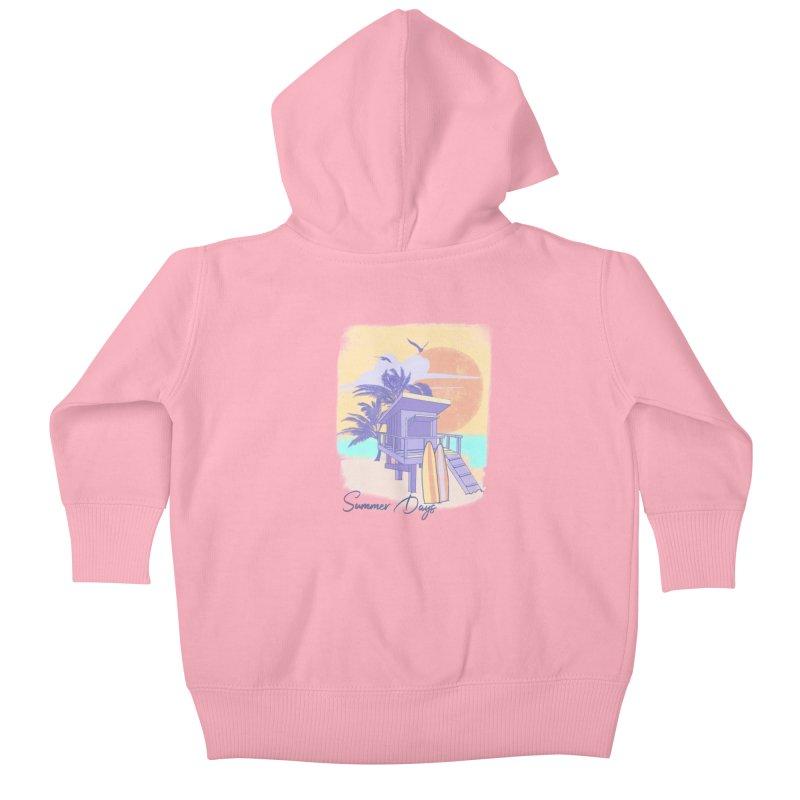 Summer Days Kids Baby Zip-Up Hoody by Michelle Wynn's Artist Shop