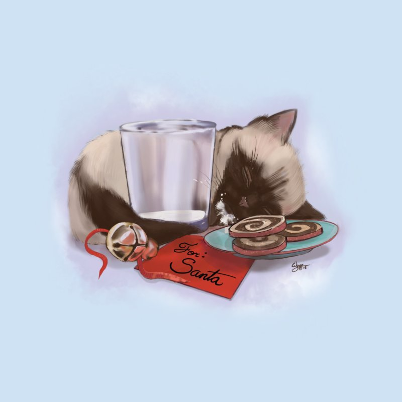 Siamese Kitty Cat Sleeping Waiting for Santa by Michelle Wynn's Artist Shop