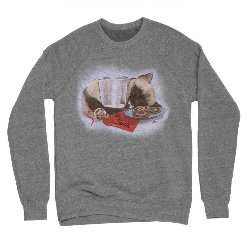 Siamese Kitty Cat Sleeping Waiting for Santa Women's Sponge Fleece Sweatshirt by Michelle Wynn's Artist Shop