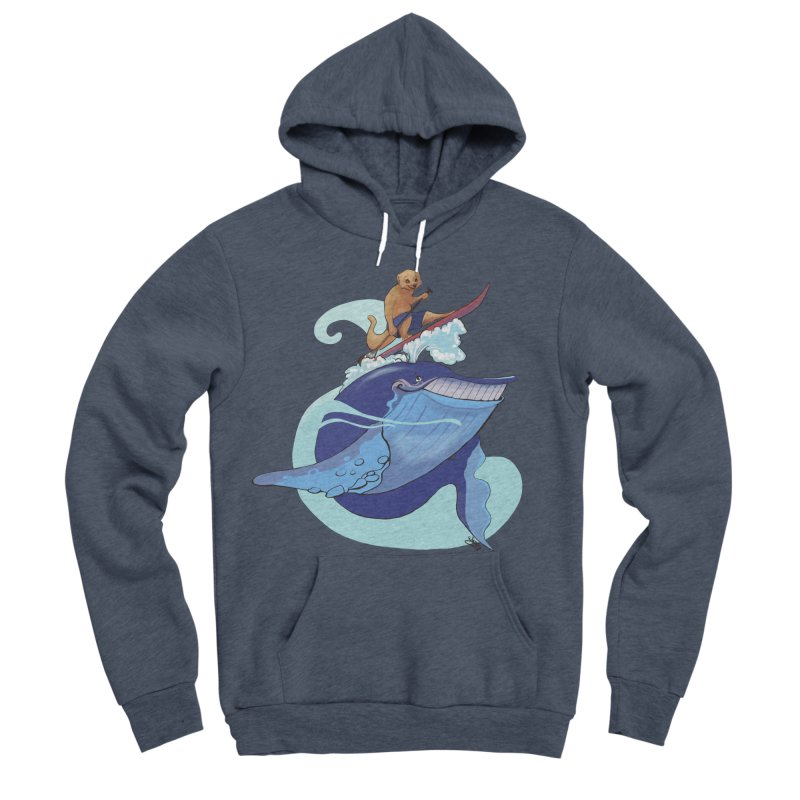 Surf's Up! Men's Sponge Fleece Pullover Hoody by Michelle Wynn's Artist Shop