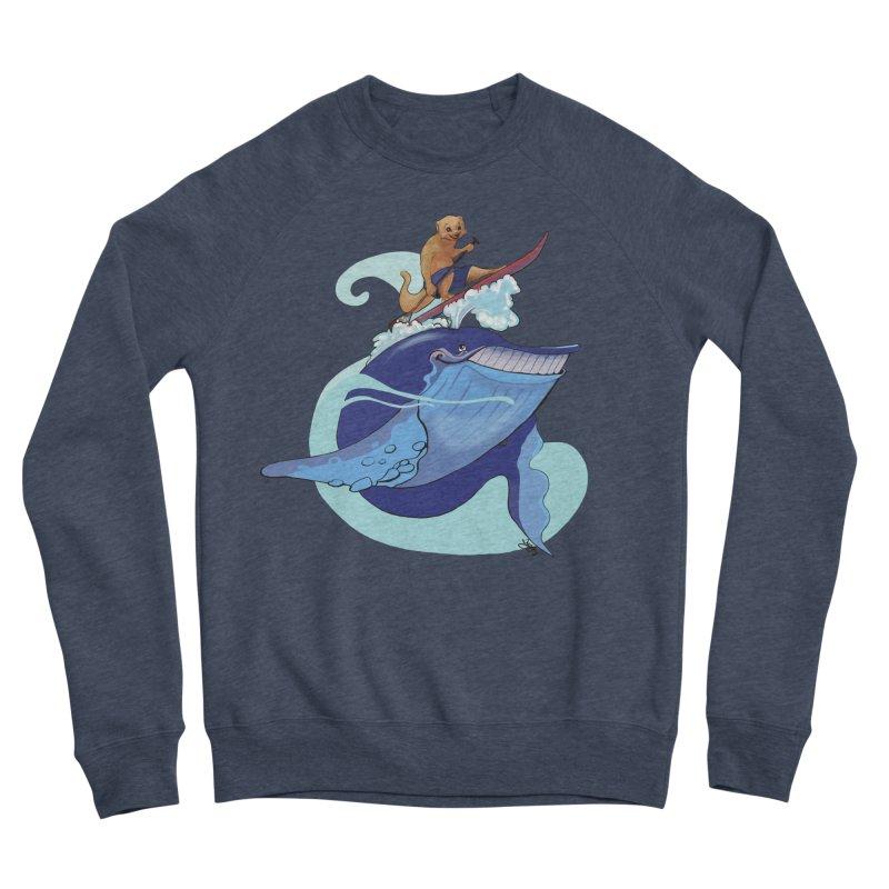 Surf's Up! Women's Sponge Fleece Sweatshirt by Michelle Wynn's Artist Shop