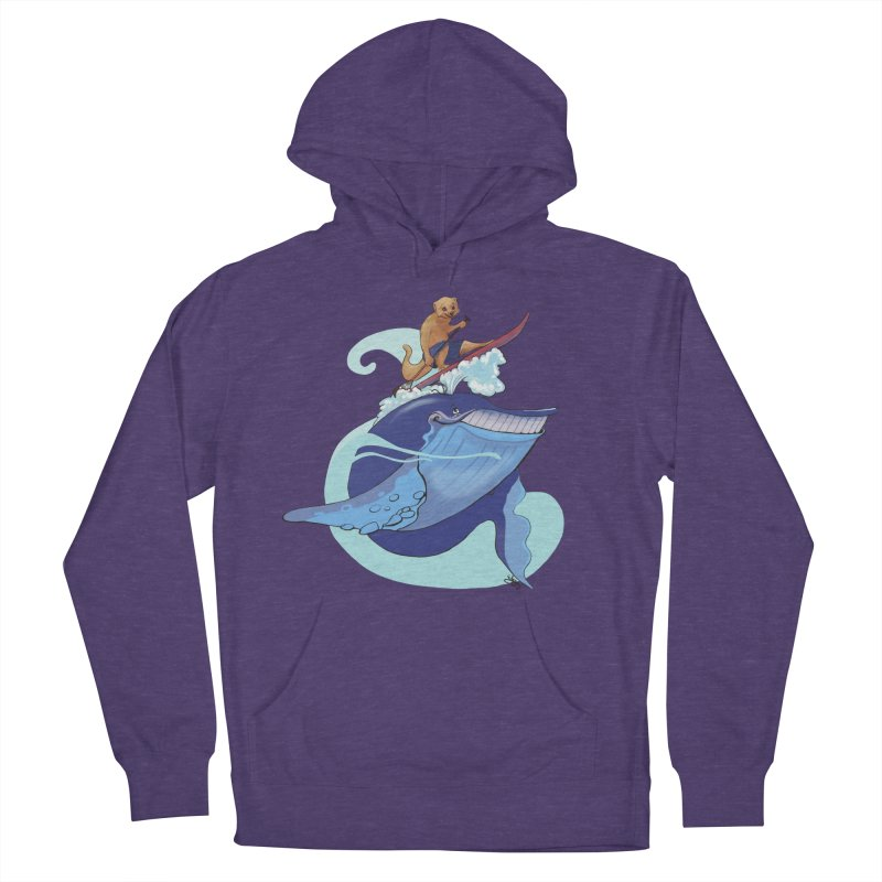 Surf's Up! Women's French Terry Pullover Hoody by Michelle Wynn's Artist Shop
