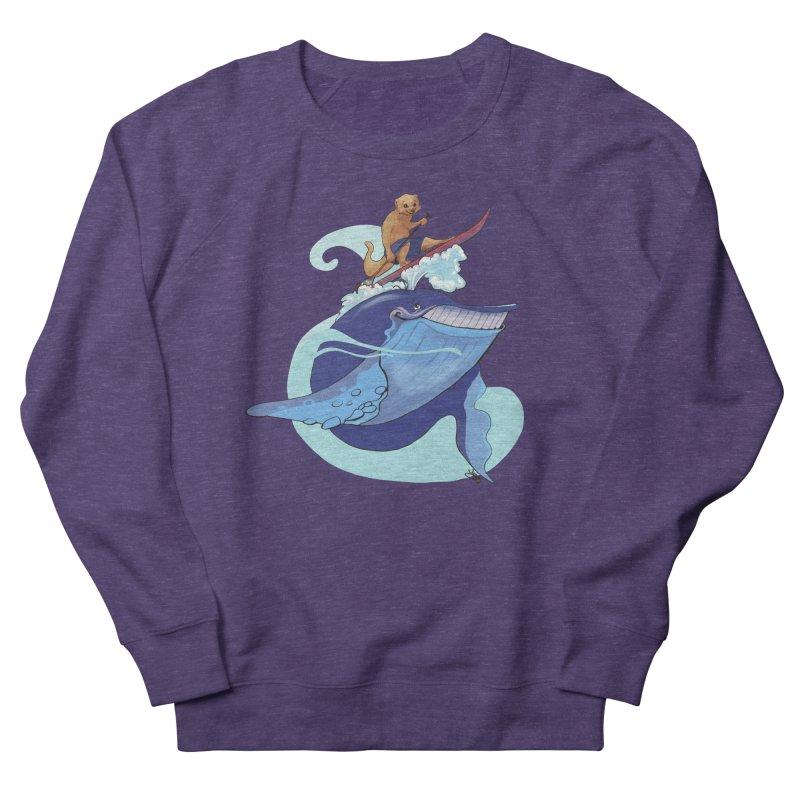 Surf's Up! Men's French Terry Sweatshirt by Michelle Wynn's Artist Shop