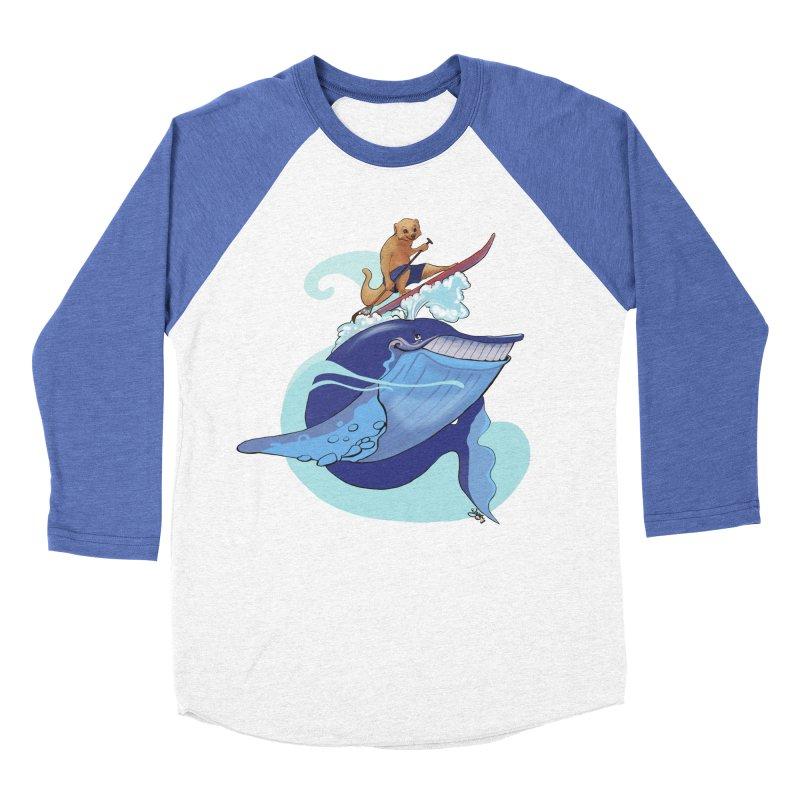 Surf's Up! Women's Baseball Triblend Longsleeve T-Shirt by Michelle Wynn's Artist Shop