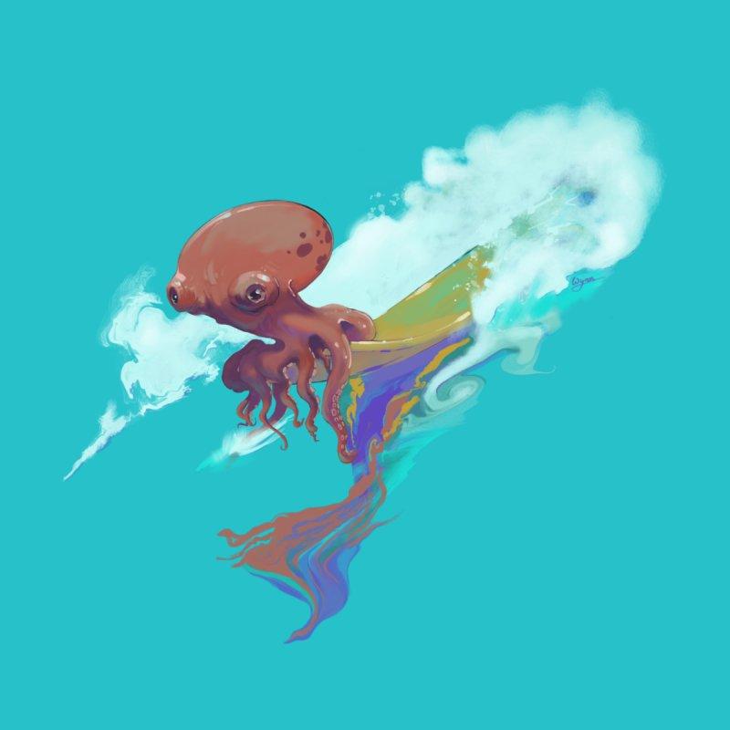 Surfing Octopus Hangin' Eight by Michelle Wynn's Artist Shop