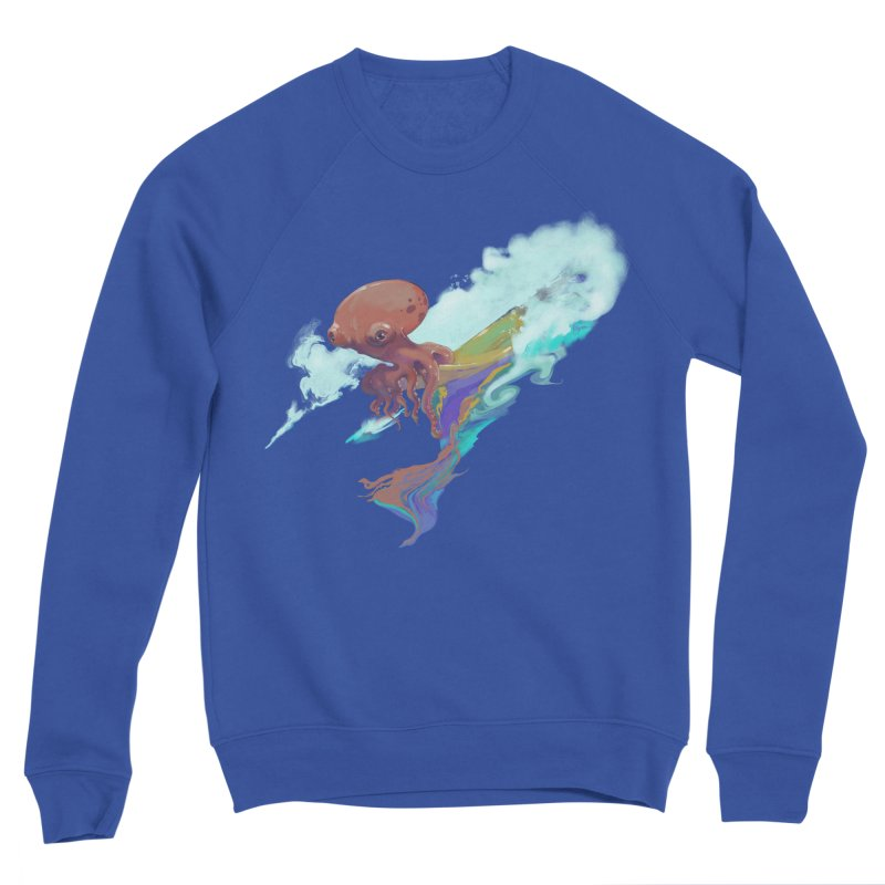 Surfing Octopus Hangin' Eight Women's Sponge Fleece Sweatshirt by Michelle Wynn's Artist Shop
