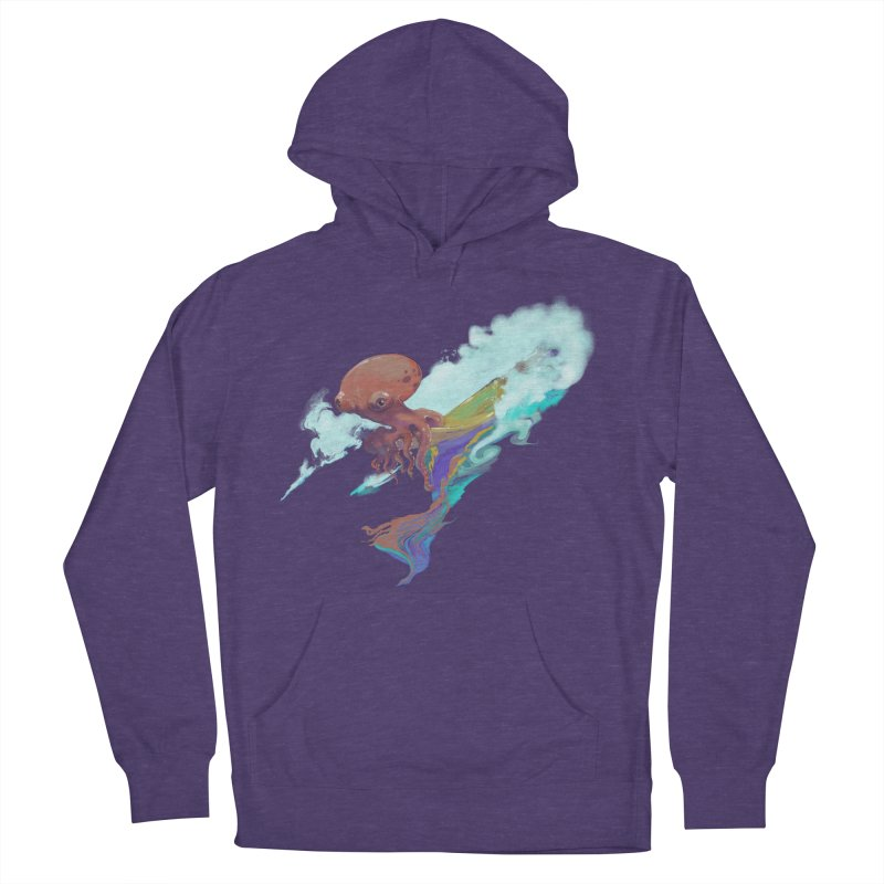 Surfing Octopus Hangin' Eight Women's French Terry Pullover Hoody by Michelle Wynn's Artist Shop