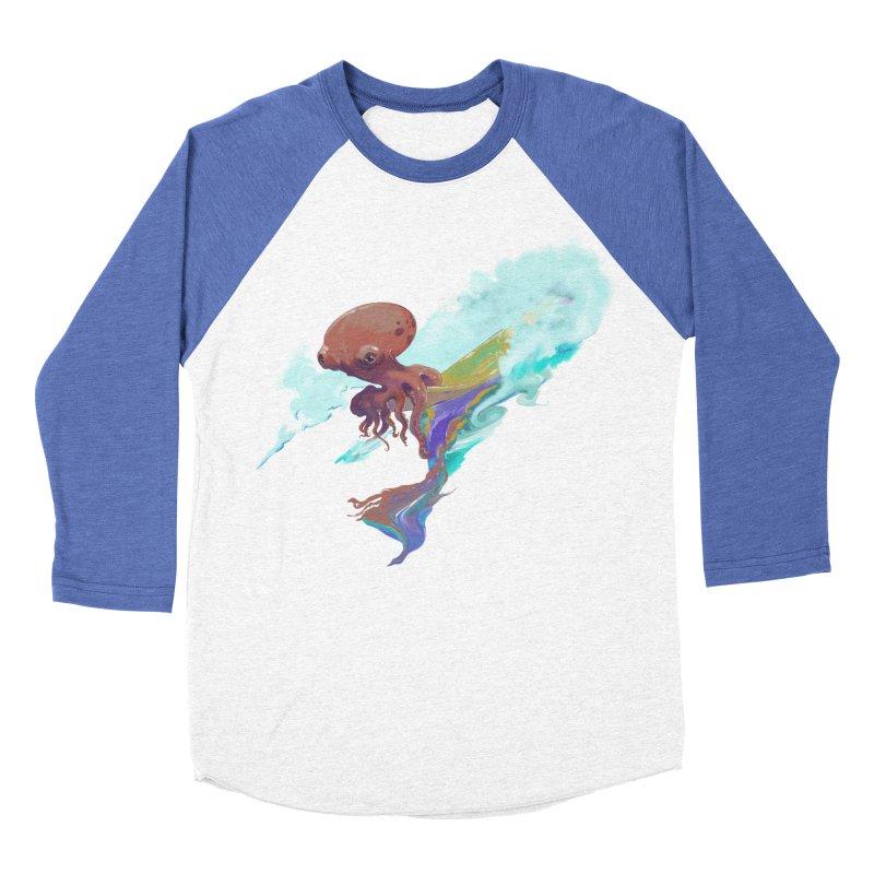 Surfing Octopus Hangin' Eight Women's Baseball Triblend Longsleeve T-Shirt by Michelle Wynn's Artist Shop