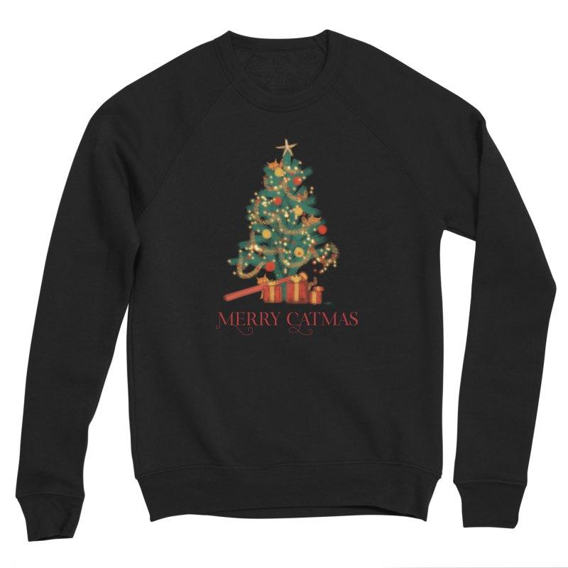Merry Catmas Women's Sponge Fleece Sweatshirt by Michelle Wynn's Artist Shop