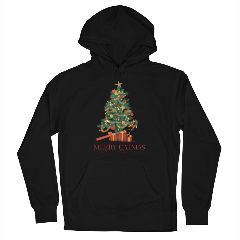 Merry Catmas Women's French Terry Pullover Hoody by Michelle Wynn's Artist Shop