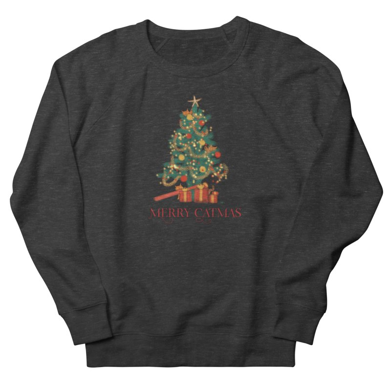 Merry Catmas Women's French Terry Sweatshirt by Michelle Wynn's Artist Shop
