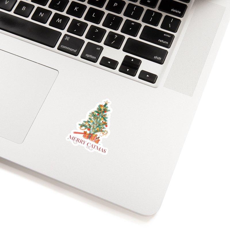 Merry Catmas Accessories Sticker by Michelle Wynn's Artist Shop