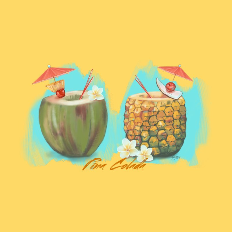 Pina Colada Tropical Drinks by Michelle Wynn's Artist Shop