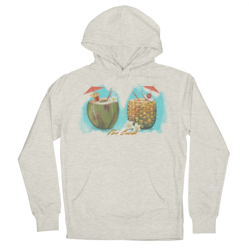 Pina Colada Tropical Drinks Women's French Terry Pullover Hoody by Michelle Wynn's Artist Shop
