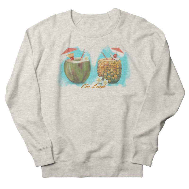 Pina Colada Tropical Drinks Men's French Terry Sweatshirt by Michelle Wynn's Artist Shop
