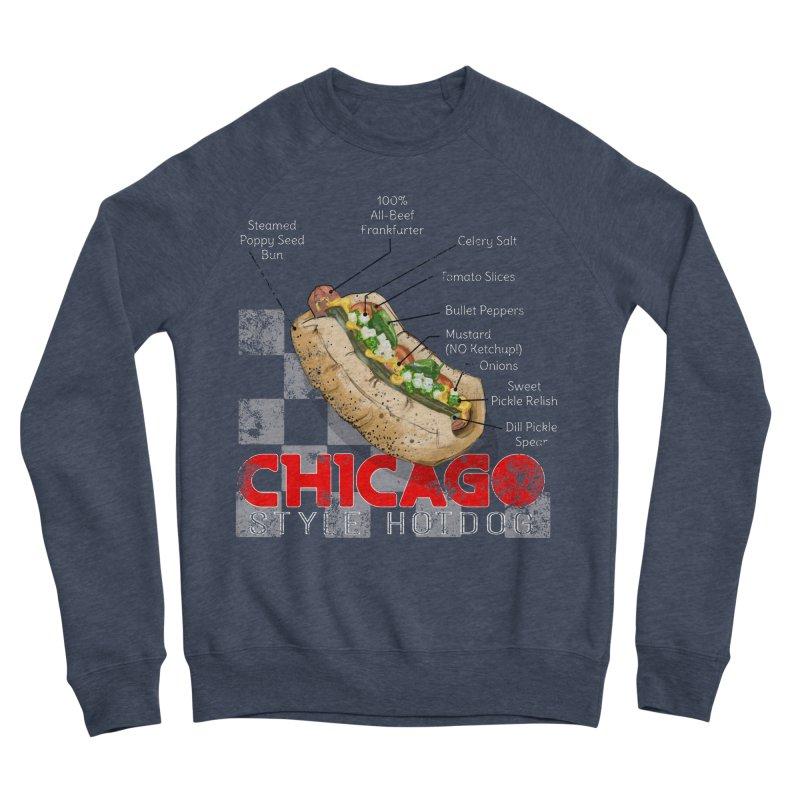 Chicago Style Hotdog Women's Sponge Fleece Sweatshirt by Michelle Wynn's Artist Shop