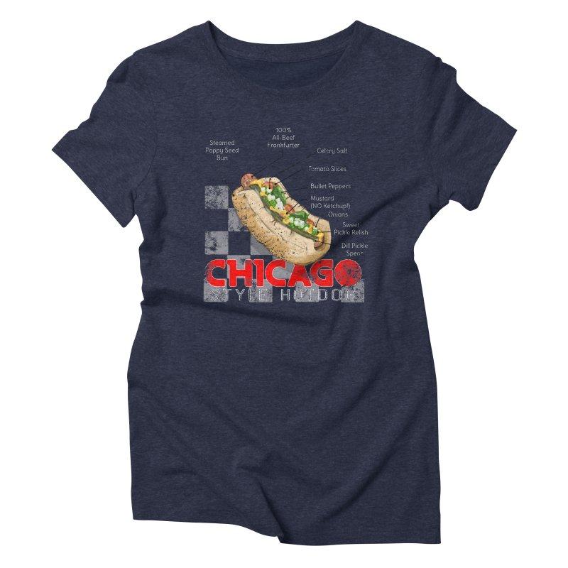 Chicago Style Hotdog Women's Triblend T-Shirt by Michelle Wynn's Artist Shop
