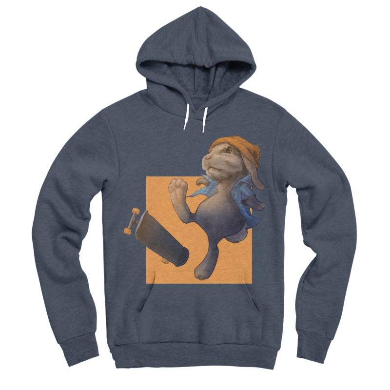 Skate Bunny Men's Sponge Fleece Pullover Hoody by Michelle Wynn's Artist Shop
