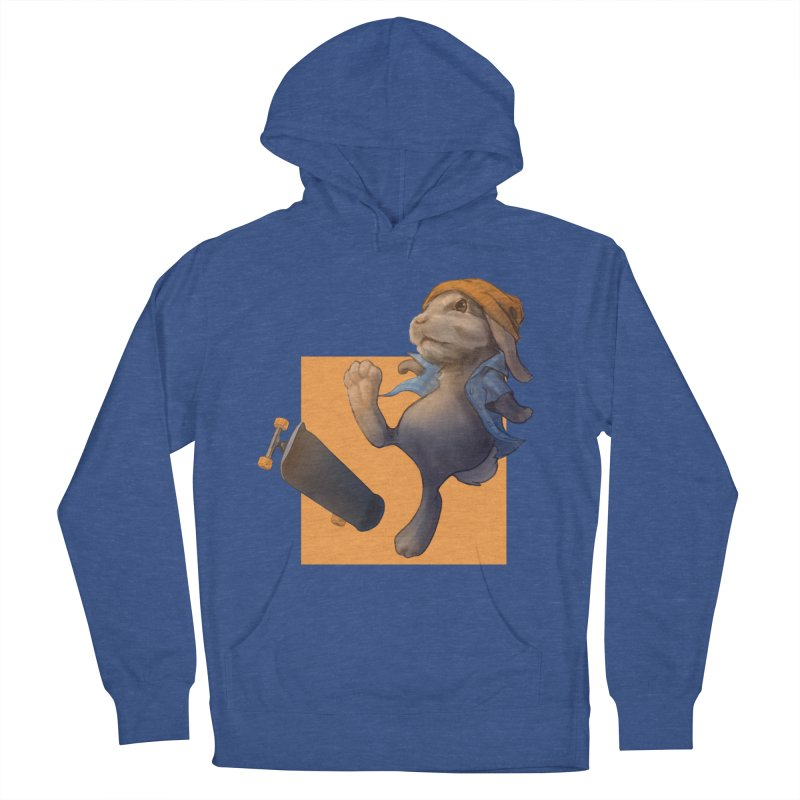 Skate Bunny Women's French Terry Pullover Hoody by Michelle Wynn's Artist Shop